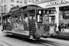 San Francisco, United states - Cable Car Tram Powell-Hyde is famous tourist attraction stock photos