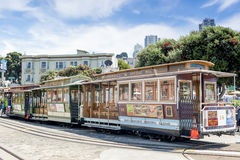 San-Francisco-United States, July 13, 2014: Authentic San-Franci. Sco Tram On Parking Place on July 13, 2014 in San-Francisco, California, United States Of Stock Photo