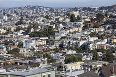 San Francisco Urban Hillside Arkivbild
