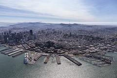 San Francisco Urban Waterfront Aerial Royalty Free Stock Photos