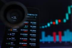 SAN FRANCISCO, US - 9. Mai 2019: Ein Diagramm der steigenden Tendenz von SPASS FunFair Cryptocurrency r stockfoto