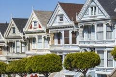 SAN FRANCISCO, USA - APRIL 07: Alamos Square - The Painted Ladie Stock Photos
