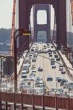 SAN FRANCISCO, USA - APRIL 07: Golden gate bridge vivid day land Royalty Free Stock Image