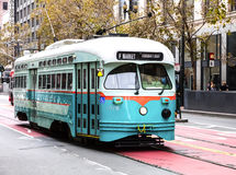 San Francisco, USA, The Cable car tram Stock Image