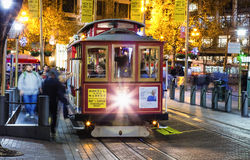 San Francisco-USA, The Cable car tram Stock Photography