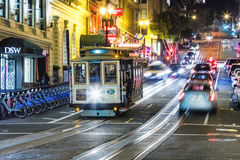 San Francisco- USA, The Cable car tram Royalty Free Stock Photo