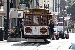 SAN FRANCISCO, USA - The Cable car tram Royalty Free Stock Images