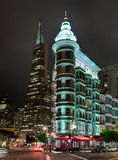 San Francisco USA - det gamla viktorianska huset Royaltyfri Fotografi