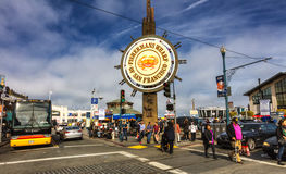 San Francisco, USA - Fishermans Wharf of San Francisco central s Stock Image