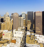 View from the rooftop to the city of San Francisco Stock Photography