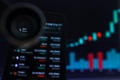 SAN FRANCISCO, USA - 9 2019 Maj: Wykres Wzrastający trend BNT Bancor Cryptocurrency r zdjęcie stock