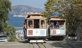 San Francisco-USA, November 2nd, 2012: Spårvagnen för kabelbil. Set Royaltyfri Foto