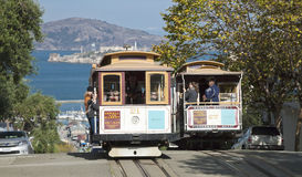 San Francisco-USA, November 2nd, 2012: The Cable car tram. The S Royalty Free Stock Photo