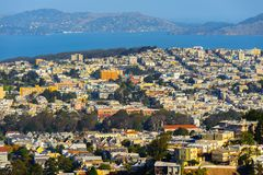Architecture of San Francisco, USA stock image