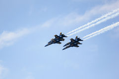 San Francisco, USA - October 8: Navy Blue Angels during the show in SF Fleet Week on October 8, 2011 in San Francisco, USA. Stock Photos