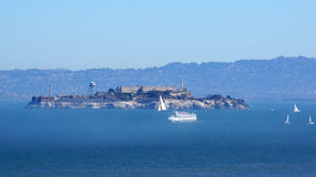 SAN FRANCISCO, USA - OCTOBER 4th, 2014: Alcatraz island penitentiary in the Bay Stock Photo