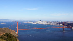 SAN FRANCISCO, USA - OCTOBER 4th, 2014: Golden Gate Bridge with SF city in the background, seen from Marin Headlands Stock Photo