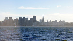 SAN FRANCISCO, USA - OCTOBER 5th, 2014: SFO downtown skyline as seen from Treasure Island Stock Photography