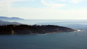 SAN FRANCISCO, USA - OCTOBER 5th, 2014: View of Lands End with the Pacific ocean, California royalty free stock photos