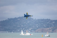 San Francisco, USA - October 8: US Navy Blue Angels during the show in SF Fleet Week on October 8, 2011 in San Francisco, USA. Stock Images