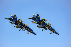 San Francisco, USA - October 8: US Navy Blue Angels during the show in SF Fleet Week on October 8, 2011 in San Francisco, USA. Royalty Free Stock Image