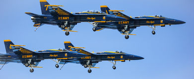 San Francisco, USA - October 8: US Navy Blue Angels during the show in SF Fleet Week on October 8, 2011 in San Francisco, USA. Stock Image