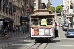 San Francisco-USA, spårvagnen för kabelbil Royaltyfri Fotografi