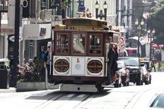 San Francisco-USA, spårvagnen för kabelbil Royaltyfri Bild