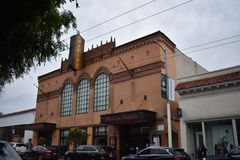 The Marina movie theater, one of the last original theaters left in San Francisco, 2. San Francisco used to have over seventy movie theaters. But with the Stock Image