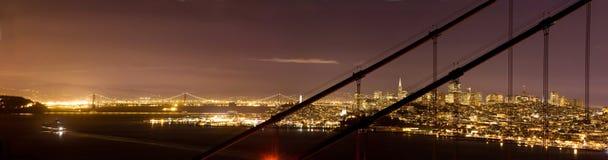 San Francisco van de binnenstad, door de Gouden Brug van de Poort Royalty-vrije Stock Afbeeldingen