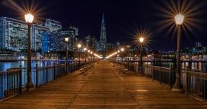 San Francisco van de binnenstad en de Transamerica-Piramide in Chrismas Royalty-vrije Stock Foto