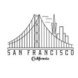 San Francisco vector design template Stock Images