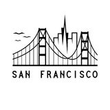 San Francisco vector design template. Skyline of San Francisco vector design template Royalty Free Stock Photos