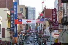SAN FRANCISCO - VERS 2017 : Signes pour des restaurants et des entreprises Photographie stock libre de droits