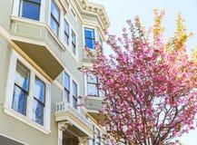 San Francisco Victorian alloggia la California Immagini Stock Libere da Diritti