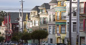 San Francisco Victorian Architecture stock footage