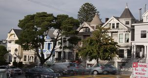 San Francisco Victorian Architecture stock video footage