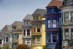 San Francisco Victorian Houses Stock Photos
