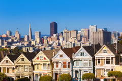 San Francisco Victorian houses in Alamo Square California Royalty Free Stock Photography