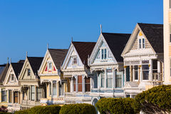 San Francisco Victorian houses in Alamo Square California Stock Photo