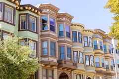 San Francisco Victorian houses California Royalty Free Stock Photography