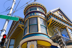 San Francisco Victorian houses in Haight Ashbury California Stock Image