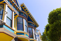 San Francisco Victorian houses in Haight Ashbury California Royalty Free Stock Image