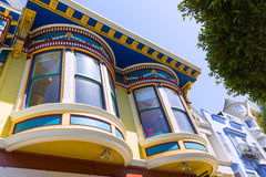 San Francisco Victorian houses in Haight Ashbury California Royalty Free Stock Images