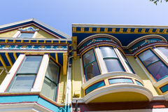 San Francisco Victorian houses in Haight Ashbury California. San Francisco Victorian houses in Haight Ashbury of California USA Stock Images