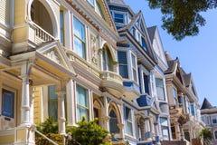 San Francisco Victorian houses in Haight Ashbury California Stock Photos
