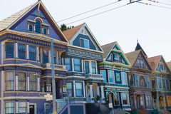 San Francisco Victorian houses in Haight Ashbury California. San Francisco Victorian houses in Haight Ashbury of California USA Stock Photos