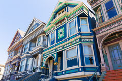 San Francisco Victorian houses in Haight Ashbury California Royalty Free Stock Photography