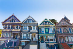 San Francisco Victorian houses in Haight Ashbury California Royalty Free Stock Photos