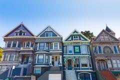 San Francisco Victorian houses in Haight Ashbury California Royalty Free Stock Photos